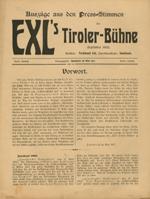 Broschüre Auszüge aus den Press-Stimmen über EXL's Tiroler-Bühne, hg. Innsbruck im Mai 1907