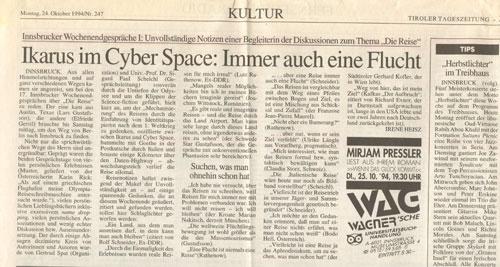 """Bericht der """"Tiroler Tageszeitung"""""""