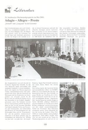 Zeitungsausschnitt 2001