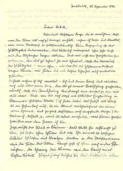 schlorhaufer an Stibill, 1947
