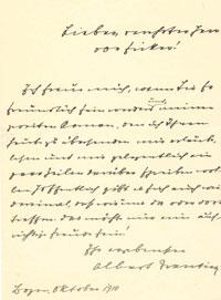 Trentini an Ficker, 1910