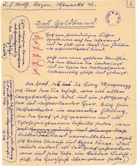 Manuskript: Das Goldband