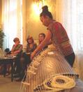 Christine Riccabona mit Sabine Gruber und Renate Mumelter. Musik: Günther Pitscheider (Kontrabass) und Karin Nakagawa (Koto). Parkhotel Laurin, Bozen, 22. 9. 2014
