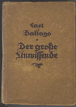Der große Unwissende, 1924