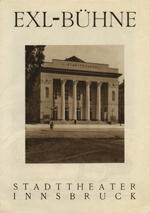 Broschüre Exl-Bühne. Landes Theater Innsbruck. Mit Portraits des Ensembles [nach 1945/46?]