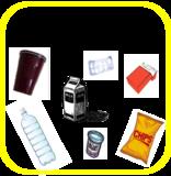 Piktogramme als Einwurfhilfen auf den Trennmodulen: Kunststoff und Verpackungen