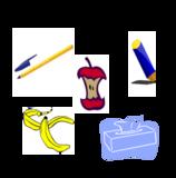 Piktogramme als Einwurfhilfen auf den Trennmodulen: Restmüll