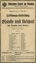 Gebundene Sammlung der Theaterzettel: Sommer-Saison 1912 Löwenhaus-Theater Innsbruck