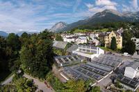 Glass houses of the Botanical Garden in Innsbruck