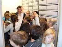 Besuch der VS Innere Stadt im Forschungsinstitut Brenner-Archiv/Literaturhaus am Inn am 3.11.2015