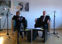 Marjorie Gabrielle Perloff im Gespräch mit Allan Janik über Wittgenstein. Foto: Michael Schorner