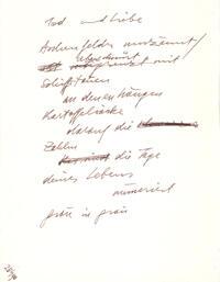 Gedicht - Manuskript