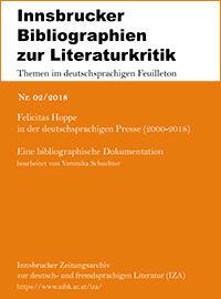 Nr. 02/2018 Felicitas Hoppe in der deutschsprachigen Presse (2000-2018)