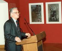 Palais Harrach, Eröffnung der Ausstellung K. Rössing, Foto v. Kratky