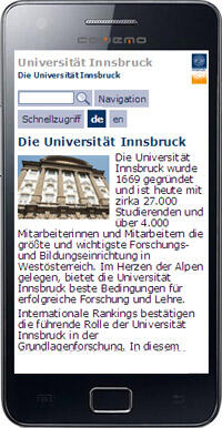 Ansicht Mobilversion