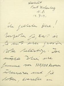 Faksimiles aus dem Brenner-Archiv (1)