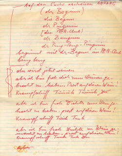 Aufzeichnungen 1970