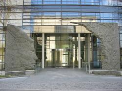 Der Eingang zum Hauptsitz der Max-Planck-Gesellschaft in München