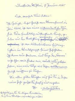 Ludwig von Ficker an Sauter, 1965