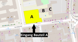 Karte Maximilianstraße Bauteil A