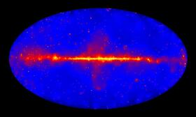 Gammamap of the sky, observed with the FERMI-Telescope