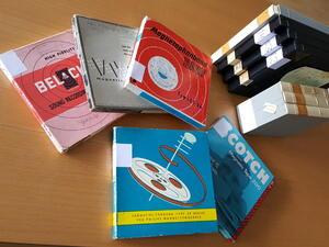 Tonbänder aus dem Nachlass von Hans Faber-Perathoner. © Brenner-Archiv