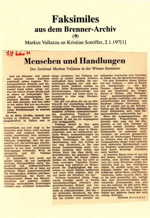 Faksimiles aus dem Brenner-Archiv (9)