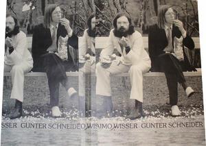 Rückseite der ersten Seite der Partitur von Zeit. Forschungsinstitut Brenner-Archiv, Nachl. Haimo Wisser, Sig. 64-03-135