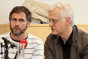 v.l. Jens Harder, Michael Hampe