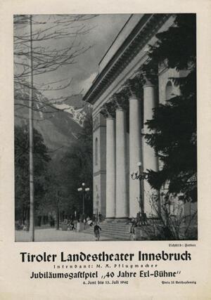 """Broschüre Jubiläumsgastspiel """"40 Jahre Exl-Bühne"""""""