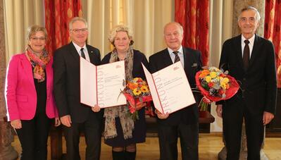 Preisträger und Jury bei der Verleihung des Arthur-Haidl-Preises 2015