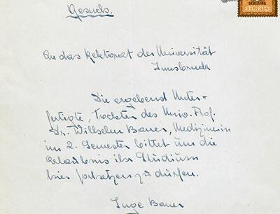 Forsetzungsgesuch von Inge Bauer