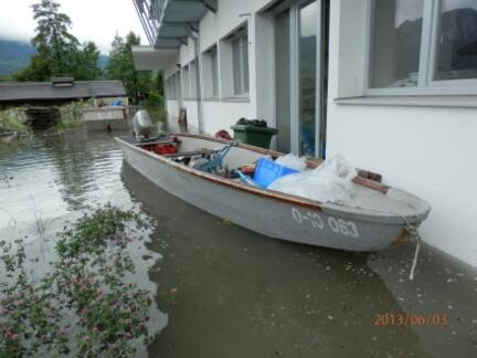 Hochwasser Mondsee 2013