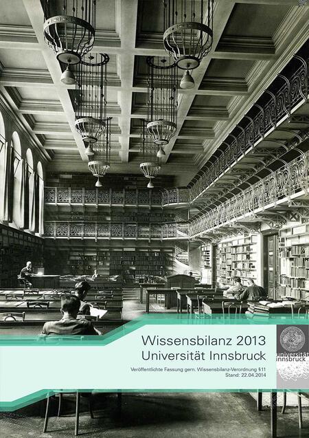 Deckblatt der Wissensbilanz 2013