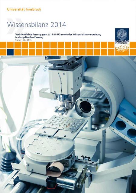 Deckblatt der Wissensbilanz 2014