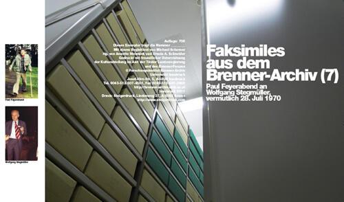 Faksimiles aus dem Brenner-Archiv (7)