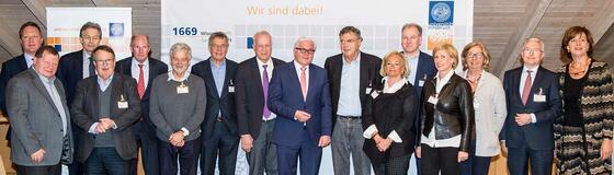 Steinmeier trifft Förderer
