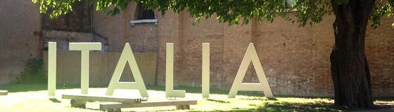 Schriftzug ITALIA