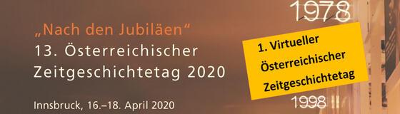 1. Virtueller Österreichischer Zeitgeschichtetag