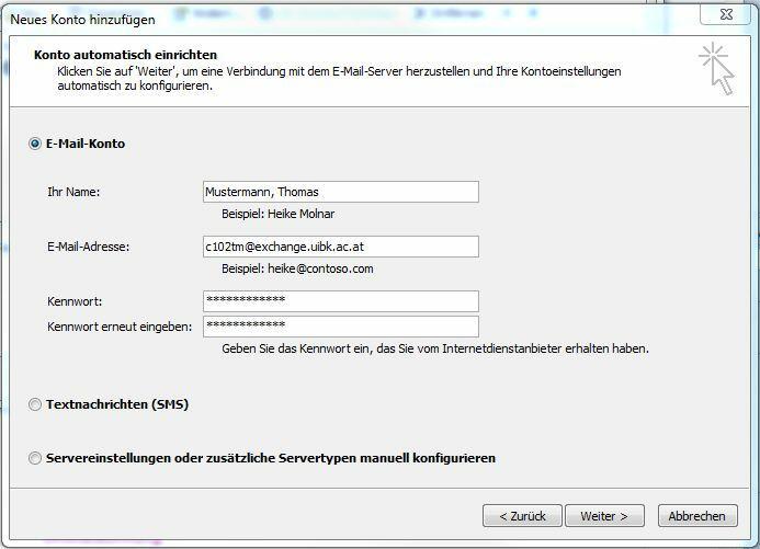 Automatische Konfiguration von RPC over HTTP