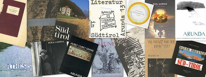 Collage aus Titelblättern der Arunda. Foto: Irene Zanol