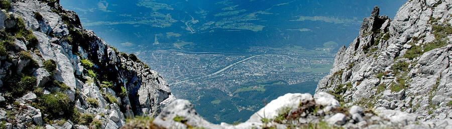 Vogelperspektive auf Innsbruck