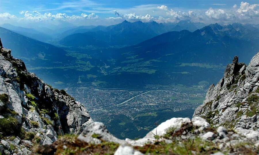 Innsbruck aus den Bergen