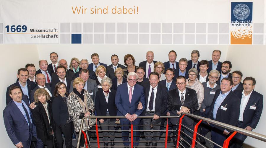 FördererInnen mit Frank-Walter Steinmeier