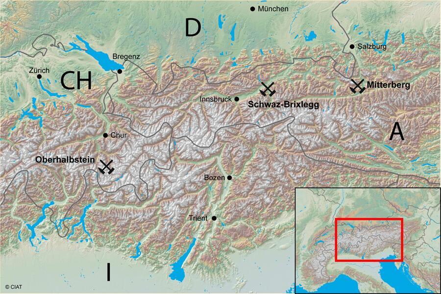 Karte DACH