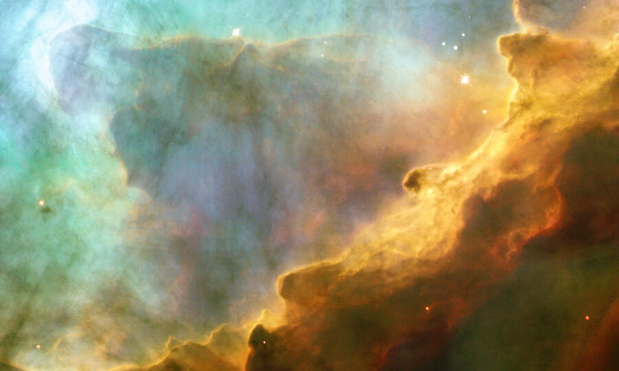 Interstellar clouds in the constellation of Sagittarius, a region in the centre of the Milkyway in which astrophysicists have suggested the amide ion may be found.