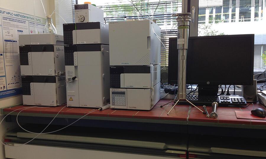 Shimadzu HPLC (UV-VIS, RID): analytical, semi-prep-, prep