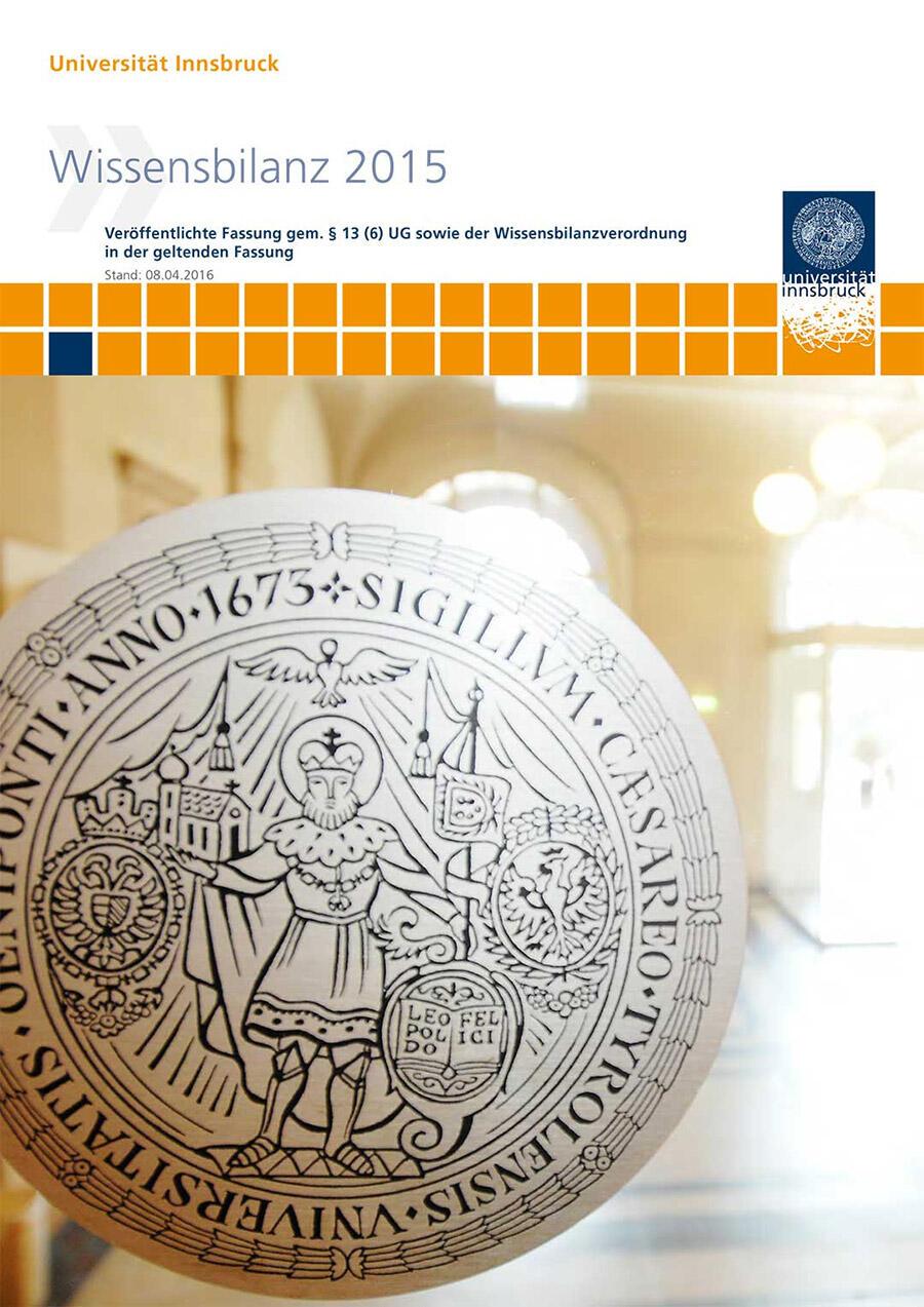 Deckblatt der Wissensbilanz 2015