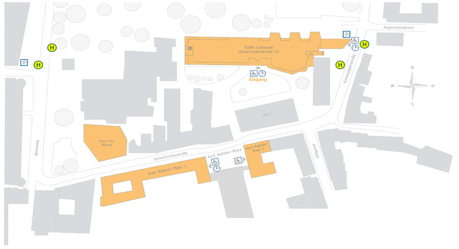 Plan Campus Universitätsstraße