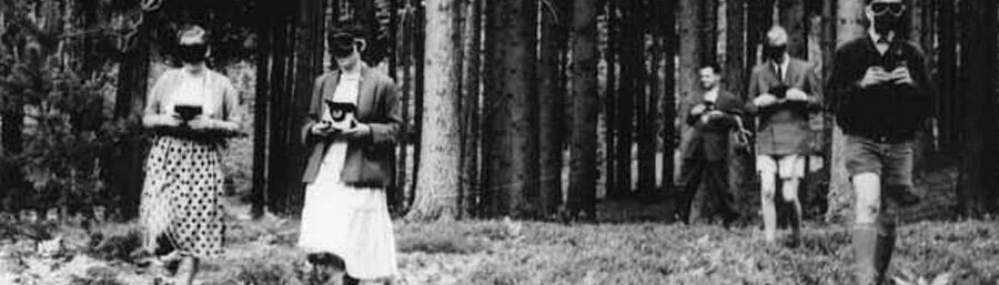 I Kohler-Warning in the dark in the wood